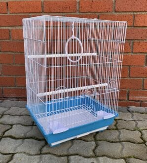 MB315 budgie cage flat top front angle