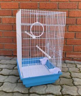 MB315 budgie cage flat top side angle