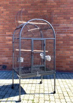 SY 215PU Round Top Parrot Cage with Sides front view