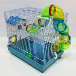 Hamster Cage Square With Funky Tubes