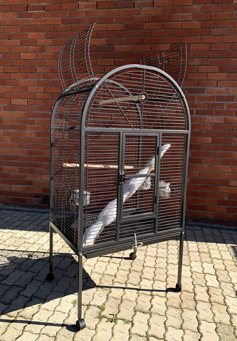 Round Top Parrot Cage With Side Catching Tray