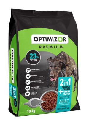 Optimizor Premium Adult 2-in-1 Gravy Coated 18kg