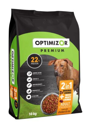 Optimizor Premium Adult 2-in-1 Moist Meaty Chunks 7kg