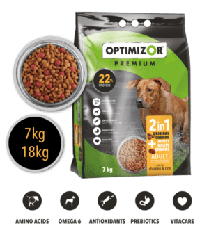 Optimizor Premium Adult 2-in-1 Moist Meaty Chunks 18kg