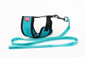 Mini Soft Harness for Cats with Velcro Turquoises with Leash