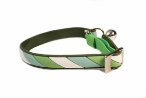Non Toxic PVC Cat Collar Candy Stripe Green