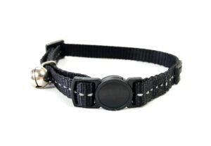 Reflective Supersoft Webbing Cat Collar Black