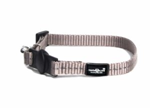 Reflective Supersoft Webbing Cat Collar Grey