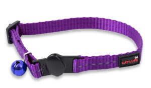 Reflective Supersoft Webbing Cat Collar Purple