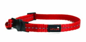 Reflective Supersoft Webbing Cat Collar Red