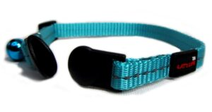 Reflective Supersoft Webbing Cat Collar Turquoise