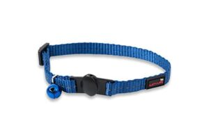 Reflective Supersoft Webbing Cat Collar Yale Blue