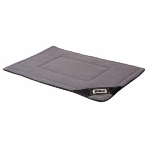 Rogz Large Lekka Dog Mat, Black/Grey