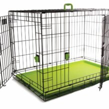 Coloured Wire Crate – Green