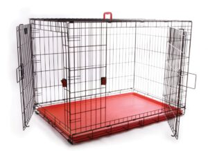 Coloured Wire Crate – Red